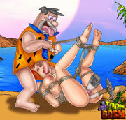 Master Fred Flintstone loves banging wet holes. Merciless sex freak Fred Flintstone shoving kinky objects into his babes pussy.