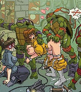 Ninja Turtles shameless orgy - comics