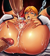 Hot anime babe with humongous tits gives hard cock a hot tit fuck. Buxom babe fucked in the asshole.