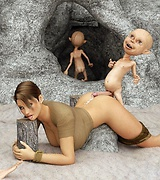 Lara from Tomb Raider fucked by goblins